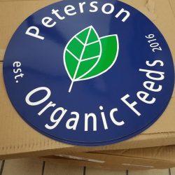 Peterson Organic Feeds work